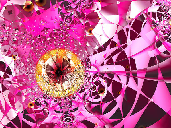 Digital Art - Pink Crazy by Frederic Durville