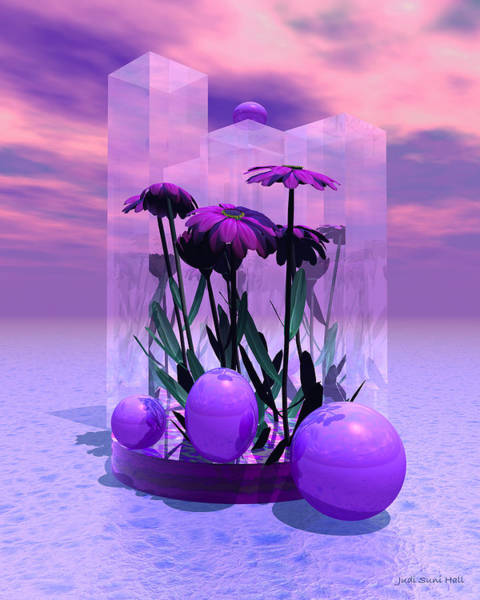 Digital Art - Pink Daisies by Judi Suni Hall