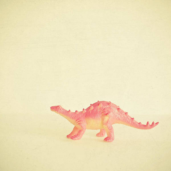 Kid Photograph - Pink Dinosaur by Cassia Beck