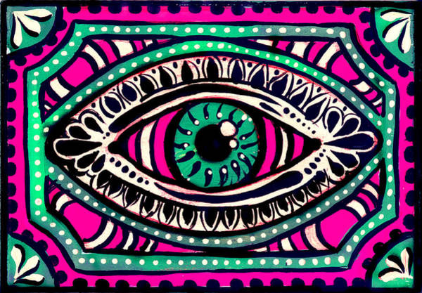 Digital Art - Pink Eyed Gypsi by Nada Meeks