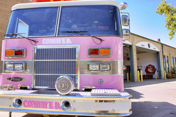 Photograph - Pink Firetruck For The Cure by Jason Politte