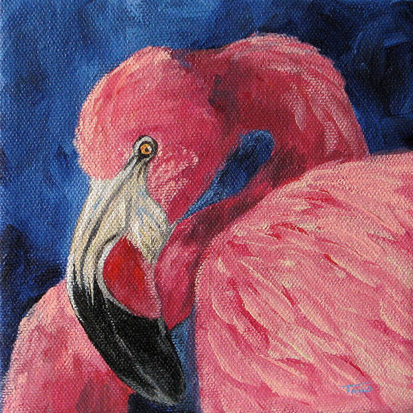 Bird Wall Art - Painting - Pink Flamingo Iv by Torrie Smiley