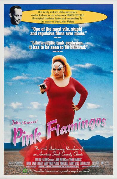 Transgender Photograph - Pink Flamingos, Us Poster, John Waters by Everett