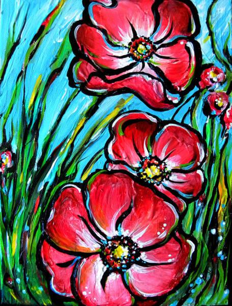 Painting - Pink Flowers by Nada Meeks