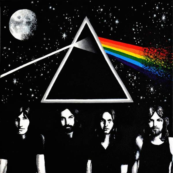 Pink Floyd Painting - Pink Floyd Dark Side Of The Moon  by Hannah Florek