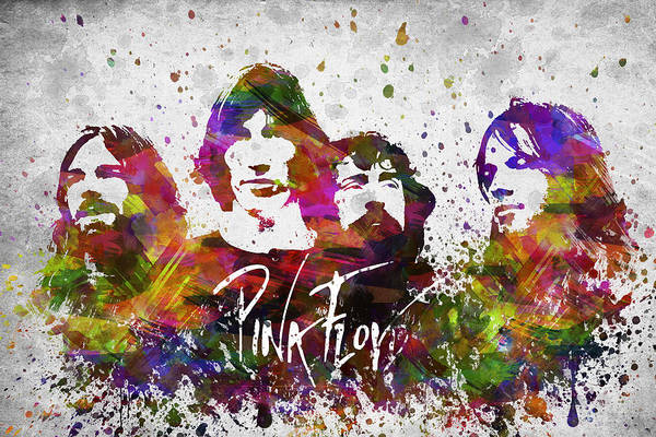 Wall Art - Digital Art - Pink Floyd In Color by Aged Pixel