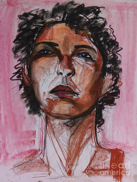Art Print featuring the drawing Pink  by Gabrielle Wilson-Sealy