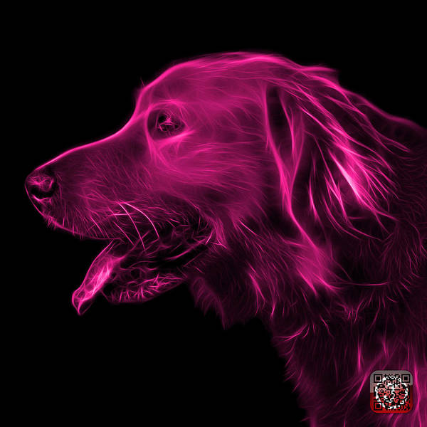 Painting - Pink Golden Retriever - 4047 F by James Ahn