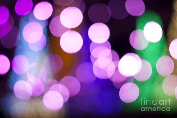 Wall Art - Photograph - Pink Holiday Lights by Juli Scalzi