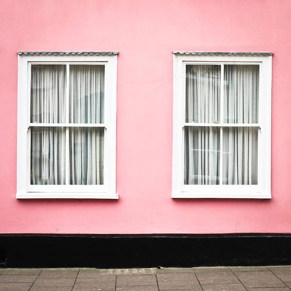 Window Photograph - Pink House by Tom Gowanlock