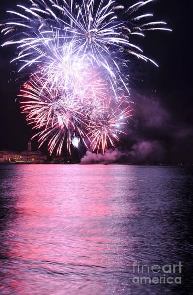 Fireworks Show Wall Art - Photograph - Pink Lake by Simona Ghidini