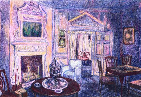 Drawing - Pink Light At Mount Vernon by Kendall Kessler