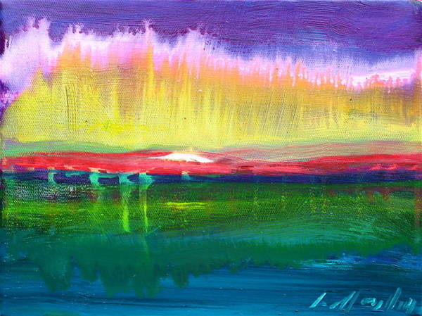 Painting - Pink Lights by Les Leffingwell