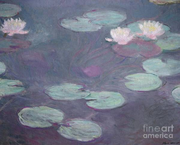 Galleria Painting - Pink Lilies by Claude Monet