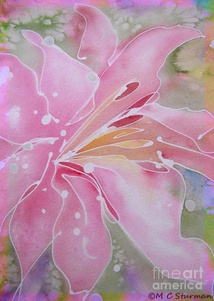Easter Lily Mixed Media - Pink Lily by M c Sturman