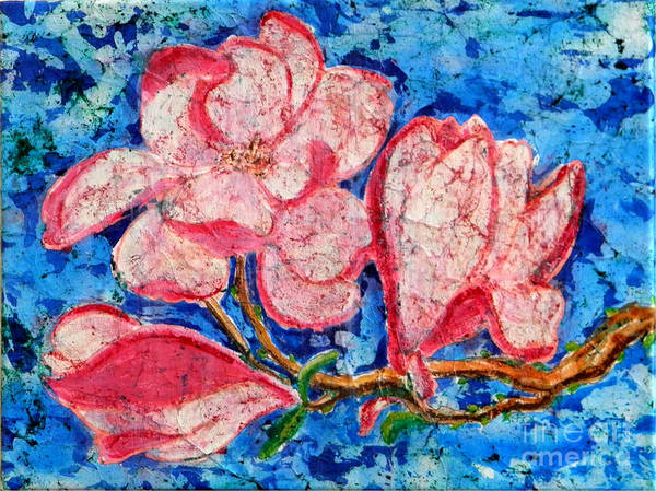 Painting - Pink Magnolias by Sandra Fox