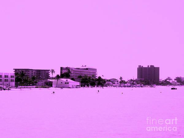 Digital Art - Pink Mood. Fort Myers Beach. Florida by Oksana Semenchenko