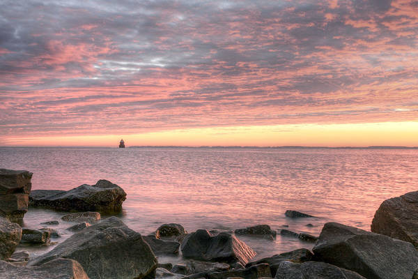 Sandy Point State Park Photograph - Pink Morning by JC Findley