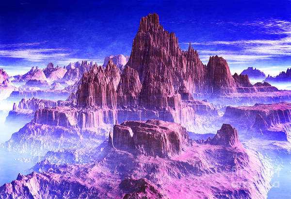 Wall Art - Digital Art - Pink Mountain Of Hope by Heinz G Mielke