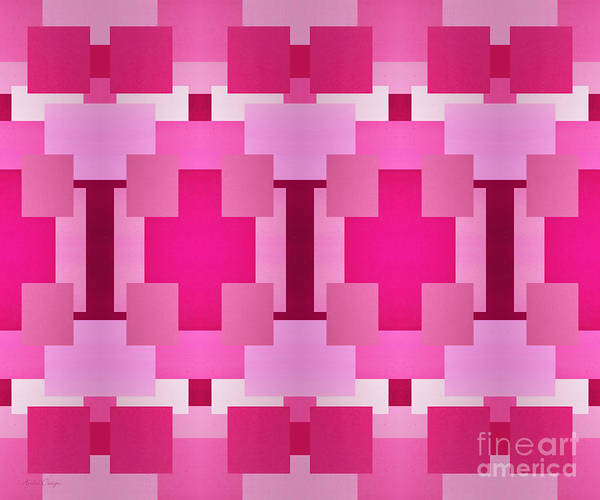 Digital Art - Pink On Pink 1 by Andee Design
