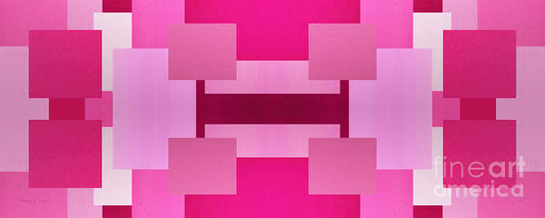 Digital Art - Pink On Pink Panorama 3 by Andee Design