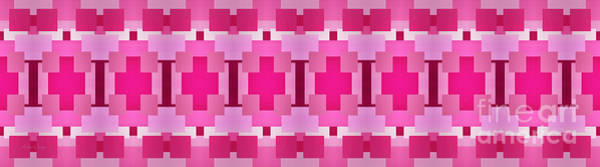 Digital Art - Pink On Pink Panorama 4 by Andee Design