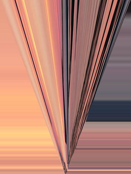Digital Art - Pink Pier Geometric One by Kathy K McClellan