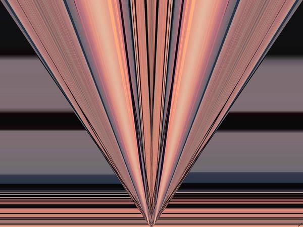 Digital Art - Pink Pier Geometric Two by Kathy K McClellan