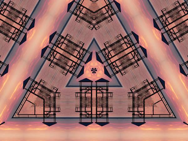 Digital Art - Pink Pier Kaleidoscope One by Kathy K McClellan