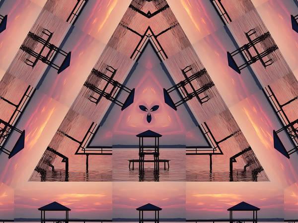 Digital Art - Pink Pier Kaleidoscope Two  by Kathy K McClellan