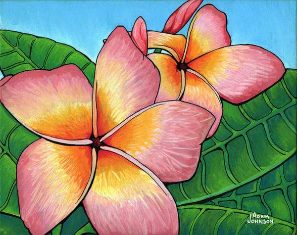 Painting - Pink Plumeria by Adam Johnson