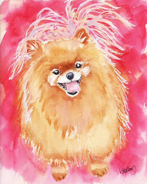 Painting - Pink Pom by Greg and Linda Halom