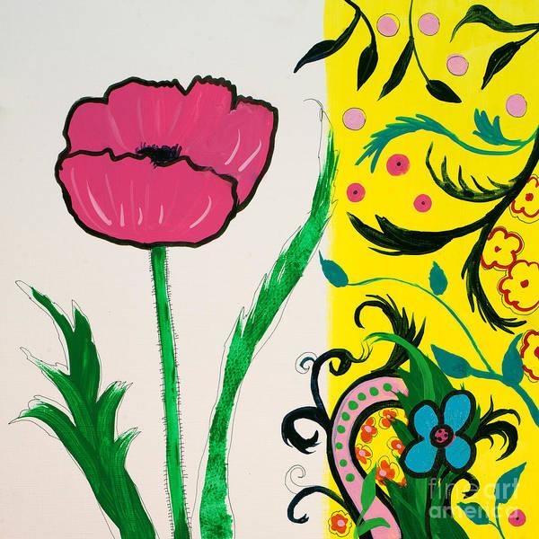 Pink Poppy And Designs Art Print