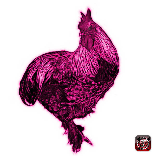 Painting - Pink Rooster - 3166 Fs by James Ahn