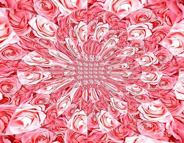 Photograph - Pink Roses Bouquet Abstract by Rose Santuci-Sofranko