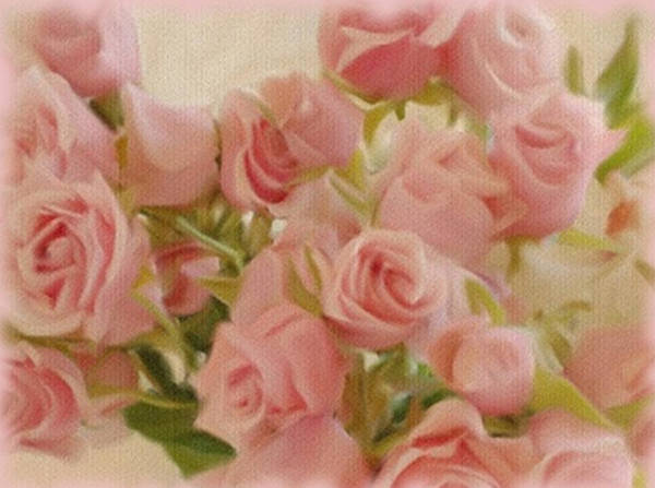 Painting - Pink Roses For The Table by Dennis Buckman