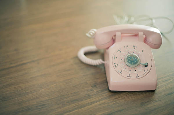 Pink Rotary Telephone Art Print by Photo By Nicole Peattie, Photographer