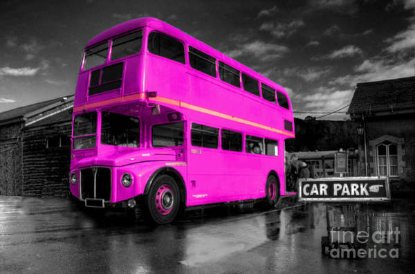 Wall Art - Photograph - Pink Routemaster  by Rob Hawkins