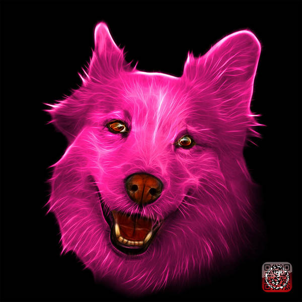 Painting - Pink Siberian Husky Mix Dog Pop Art - 5060 Bb by James Ahn