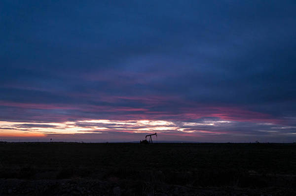 San Joaquin Valley Photograph - Pink Sky At Night by Connie Cooper-Edwards
