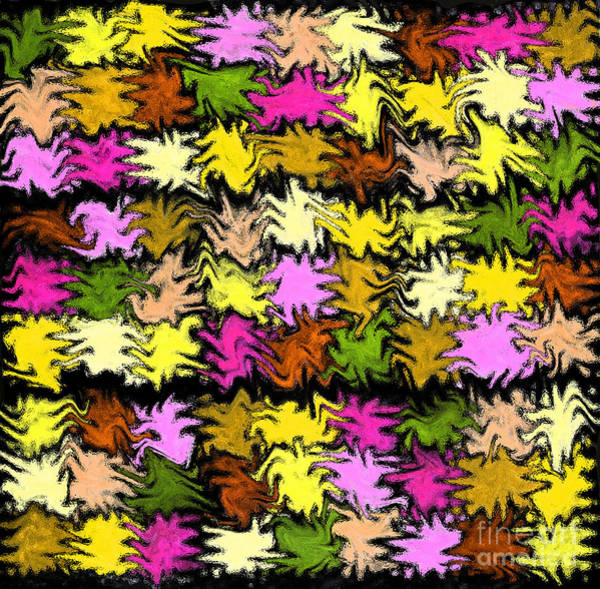 Photograph - Pink Squiggle Quilt Abstract by Karen Adams