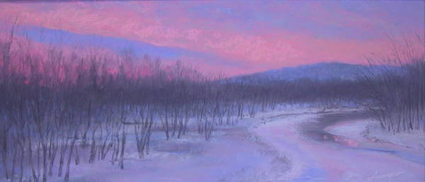Pastel - Pink Sunrise At Catfish Corner by Sherri Anderson