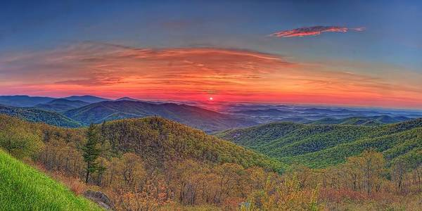 Photograph - Pink Sunrise At Skyline Drive by Metro DC Photography