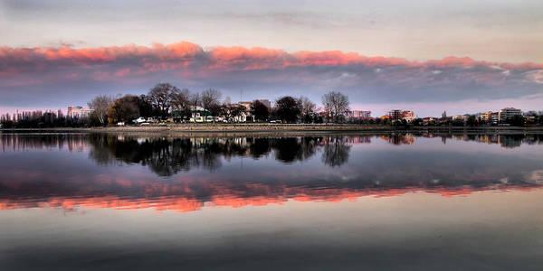 Photograph - Pink Sunset Reflection by Daliana Pacuraru