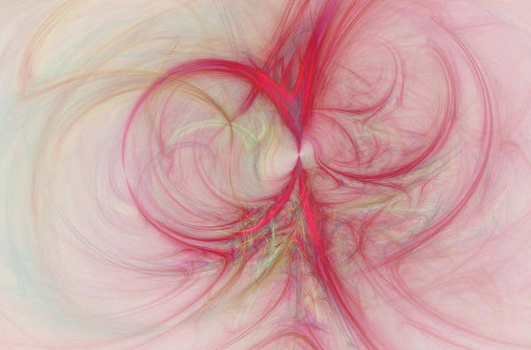 Wall Art - Digital Art - Pink Swirls by David Ridley