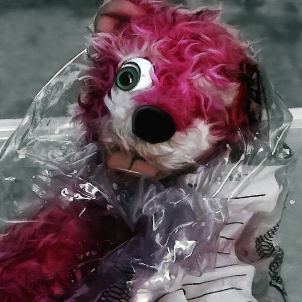 Digital Art - Pink Teddy Bear In Evidence Bag @ Tv Serie Breaking Bad by Gabriel T Toro