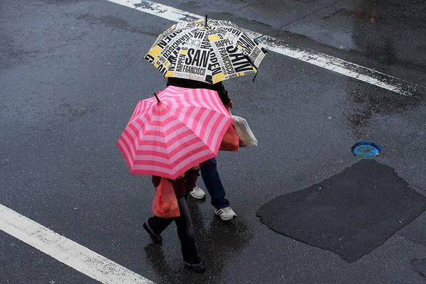 Photograph - Pink Umbrella On A San Francisco Street by Aidan Moran