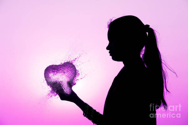 Photograph - Pink Water Heart by Tim Gainey