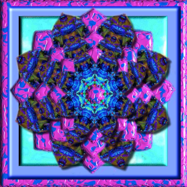 Digital Art - Pinkly Pretty 3d Kaleidoscope by Charmaine Zoe