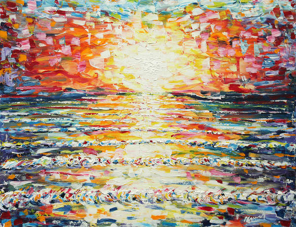 Painting - Pinks At Sunset by Pete Caswell